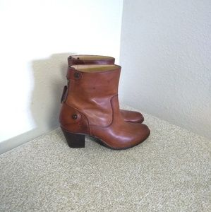 Frye Brown Genuine Leather Ankle Boots